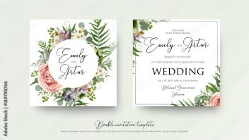 Fototapeta Z Kwiatami Wedding Floral Invite Invitation Card